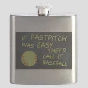 Chalkboard If Fastpitch Was Easy Flask